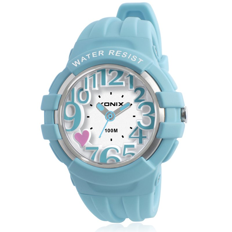 2018 Ny 3D Mode Personlighet Lysande Flicka Barn Student Quartz Watch Vattentät Pointer OG