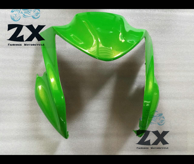 For Upper Front Head Fairing Cowl Nose Cowl For KAWASAKI ER6N 2012-2015 ABS Plastic Kit Motorcycle Compression no injection