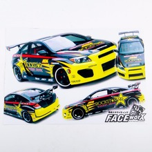 1/10 RC Racing  Drift Car Body RockStar DIRST Adhesive Decals Sticker For RC Car Model Toys Accessory