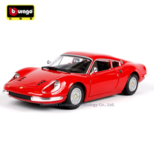 Bburago 1:24 Ferrari 246GT collection manufacturer authorized simulation alloy car model crafts decoration toy tools