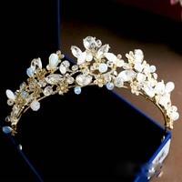 El nuevo de alta calidad de cristal de la boda nupcial corona de la tiara nupcial del pelo accesorios de joyería nupcial de moda elegancia