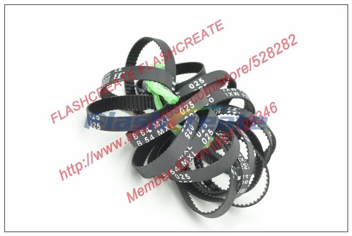 POWGE B54 MXL Timing Belt Teeth 54 Width 6.35mm Perimeter 109.73mm B54MXL Rubber Closed-Loop Synchronous Belt Fit MXL Pulley
