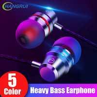 Métal filaire écouteur 3.5mm Super basse son lourd Sport casque avec micro 4D stéréo casque pour Samsung Xiaomi MP3 Auriculares