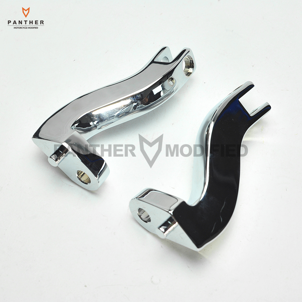 Chrome Motorcycle Passenger Foot Peg Mount Kit Moto Rear Foot Rest Bracket Case For Harley Road King Glide Electra 1993-2016