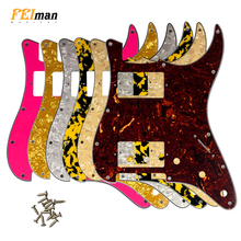 Pleroo Guitar accessories pickguards with 11 Screws for fender Standard ST HH Stratocaster Guitar with PAF Humbucker Multicolor недорго, оригинальная цена