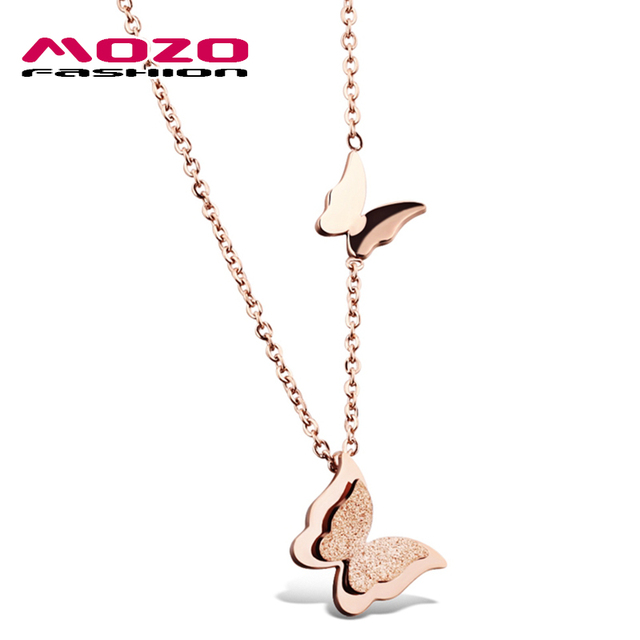 Wholesale New Fashion Womens Jewelry Rose Gold Scrub Stainless