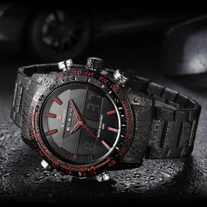 Image 4 - NAVIFORCE New Men Fashion Sport Watches Luxury Brand Mens Quartz Digital Analog Clock Man Stainless Steel Wrist Watch