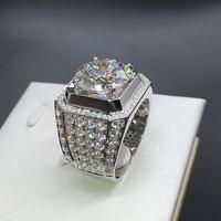 3 карат Диамант набор кольцо для предложения руки и сердца брак стерлингового серебра обручальное кольцо (LMYS)