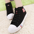 New high-top canvas shoes women Four Seasons casual lace flat shoes casual shoes fashion