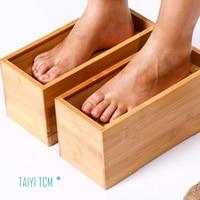 Bamboo foot moxa box