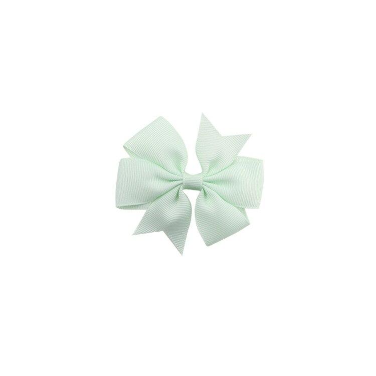 40 цветов сплошная корсажная лента банты заколки шпилька девушка бант для волос, бутик заколки для волос аксессуары для волос - Color: a12 Apple Green