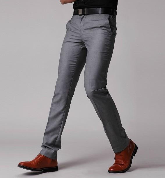 New Men's Suit Pants Flat Business
