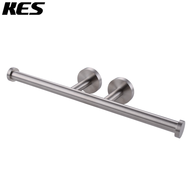 Kes Bath Double Roll Toilet Paper Holder Wall Mount Dual Tissue Hook Sus304 Stainless Steel
