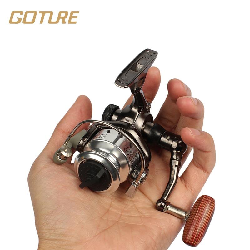 Goture mini fishing reel palm size metal coil ultra light for Mini fishing reel
