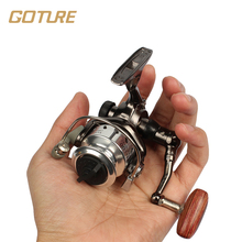 Goture Mini Fishing Reel Palm Size Metal Coil Ultra Light Small Spinning Reel For Ice Fish Pen Fishing Rod Molinete Pesca