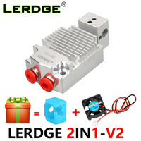 LERDGE 2IN1 V2 Hontend 2 Nozzle Color Switching Hotend Diy kit 3D Printer Parts Double color print head Extruder 0.4/1.75mm gift