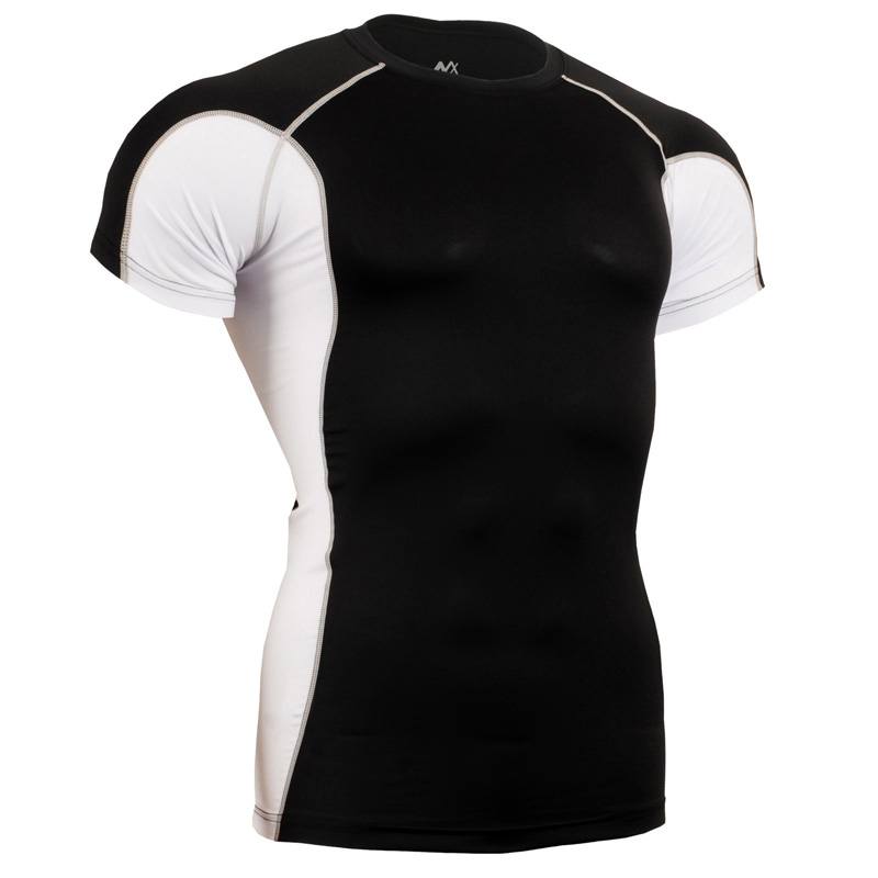 2017 Men s famous brand running compression slim fit t shirts under wear tees gym quick