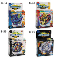 Gift Box Metal Burst Gyroscope Battle Spinning Top Toys 4Pcs/set B48 B66 With Launcher Bayblade Be Blade Toys For Boy