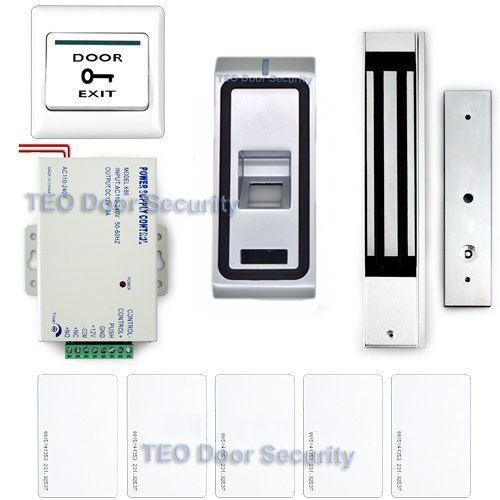 Free DHL Shipping RFID  Controller Finger Print Admission Control IP68 Outdoor 600lbs LED Electromagnetic Lock With Relay Output