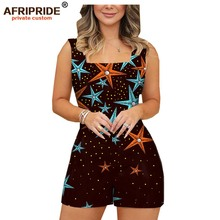 2019 african fashion playsuits for women AFRIPRIDE tailor made plus size prime sleeveless casual cotton A1929003