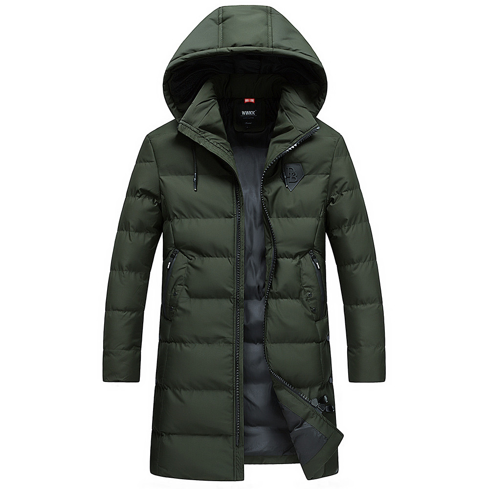 Casual X-Long Cotton Winter Hooded Coat