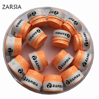 (Orange) 60 pcs ZARSIA Sticky feel tennis Overgrip  perforated Badminton Grip tennis overgrip Anti-skid weat absorbed wraps taps