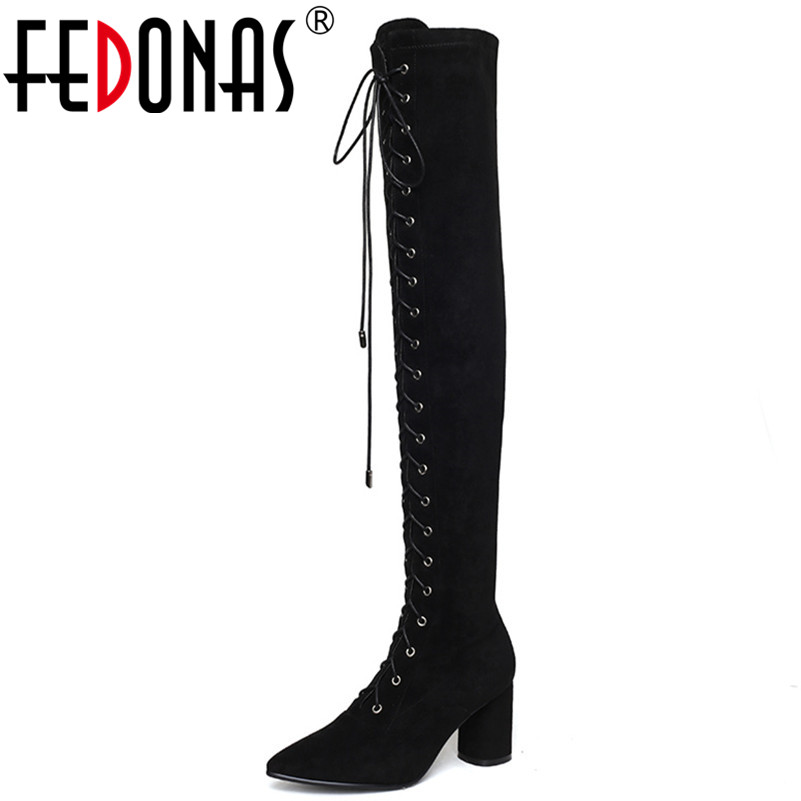 FEDONAS Fashion Sexy Slim Long Keep Warm Party Dancing Shoes Woman High Heels Pointed Toe Tight High Over The Knee High Boots FEDONAS Fashion Sexy Slim Long Keep Warm Party Dancing Shoes Woman High Heels Pointed Toe Tight High Over The Knee High Boots