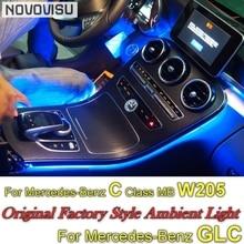 Для Mercedes Benz C MB W205 GLC 2014 ~ 2019 приборной панели novovisu интерьер OEM оригинальный завод атмосфера advanced окружающего света