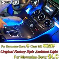 For Mercedes Benz C MB W205 GLC 2014~2019 Dashboard NOVOVISU Interior OEM Original Factory Atmosphere advanced Ambient Light