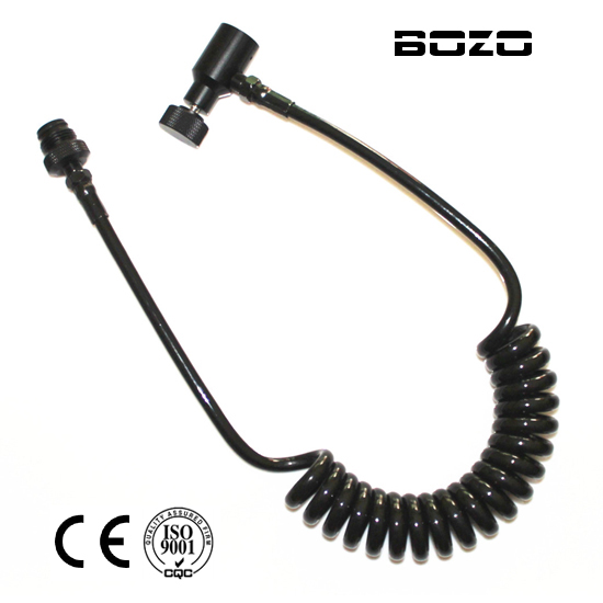 PCP Paint Accessories Paintball Coiled Remote Hose Thick Air Line IRemote C Version FREE SHIPPING