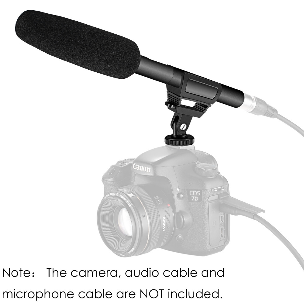 Neewer Professional Dslr Condenser Shotgun Microphone Video Power Pc Microphones From P48 Or Phantom 48 Volts Interview Reporting For Canon Nikon Sony Cameras In Consumer Electronics