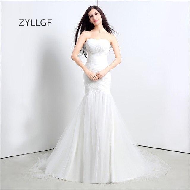 ZYLLGF Vestido De Novia Vintage Sweetheart Sirene Robes De Mariee ...