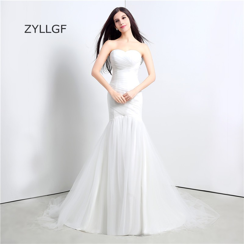 ZYLLGF Vestido De Novia Vintage Sweetheart Sirene Robes De Mariee Mermaid Wedding Dress Boho Lace Up Bridal Dress Wedding Gown
