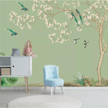 Custom large wallpaper modern new Chinese classical mural waterproof material