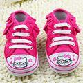 Pink Hello Kitty Zapatos de Bebé Ocasionales Niños Chaussure Zapatillas de Deporte Botas Infantiles Del Niño Recién Nacido Botines Sapatinhos bebe Sapatos 0-1Y