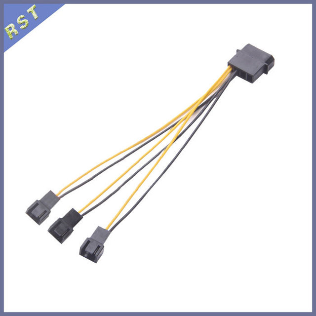 PC Fan Cable Distributor 3 Way Molex to Triple 3 Pin Fan Adapter 12V 15cm_640x640 pc fan cable distributor 3 way, molex to triple 3 pin fan adapter