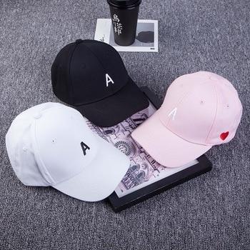 Hat Men and women Side Embroidery Love Letter A Baseball caps Korean Spring Summer Outdoor Leisure Bending Cap Snapback women
