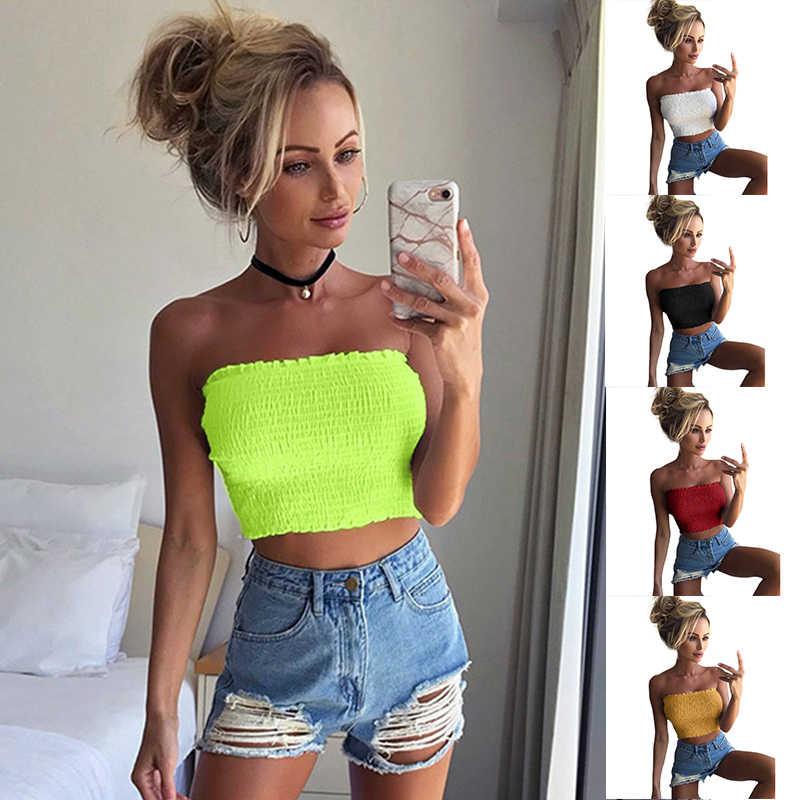 Прямая поставка 2019, модная блузка для девушек, Женская Повседневная Гибкая элегантная рубашка без рукавов, летние топы, неоновые зеленые блузки