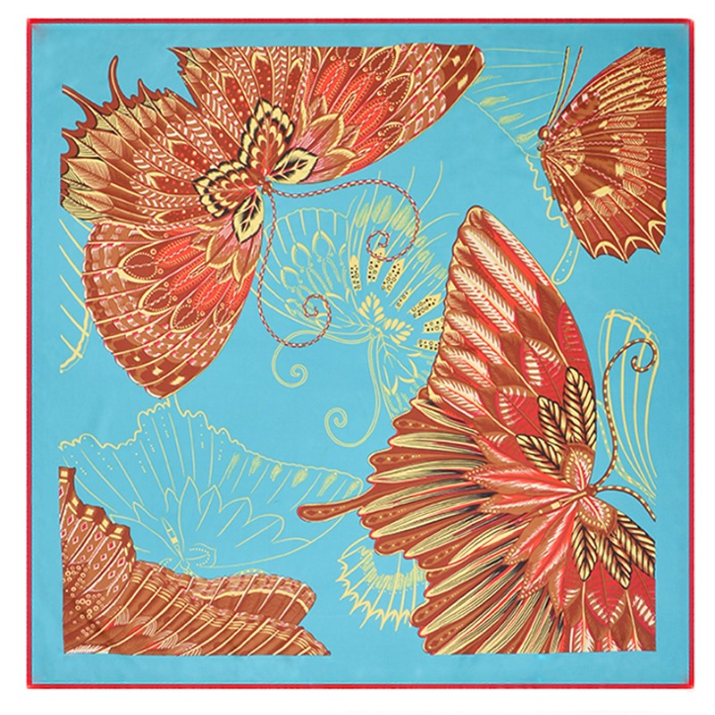 Large Silk Scarf Spring Butterfly | Lightweight Scarves | Up to 60% Off Now
