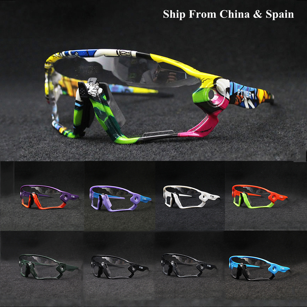 Photochromic Cycling Glasses Eyewear Mtb Bike Riding UV400 Outdoor-Sport Polarized TR90 title=