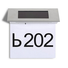 4 LED Led Sensor Solar Light Stainless Steel IP44 Solar Powered Illumination Doorplate Lamp House Number Outdoor Lighting