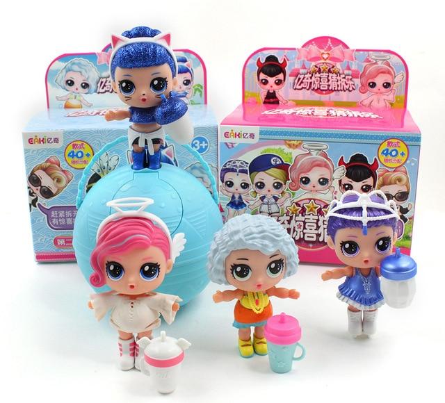 Generation II Original Eaki DIY Dolls for Surprises Princess lol Sisters Dolls with Box Kids Puzzle Toys Birthday Christmas Gift