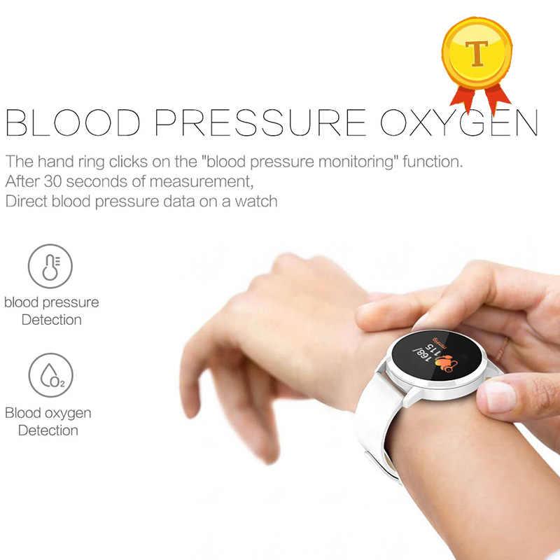 ที่มีคุณภาพสูงของขวัญที่ดีที่สุดกับพ่อแม่เพื่อสุขภาพs martbandสมาร์ทสร้อยข้อมือด้วยเลือดออกซิเจนความดันตรวจสอบเตือนข้อความ