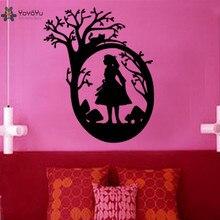 YOYOYU Wall Decal Vinyl Room Decoration Alice In Wonderland Kids Home Boys Girls Art Mural Poster Removeable Decor YO385 цена