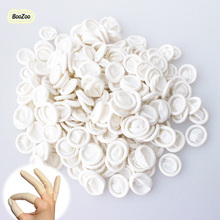 BlueZoo 200 Pcs/pack Nail Art Gloves Latex Rubber Finger Cover Protective Fingertip Gross Nail Finger Watch Repair Nail Tools