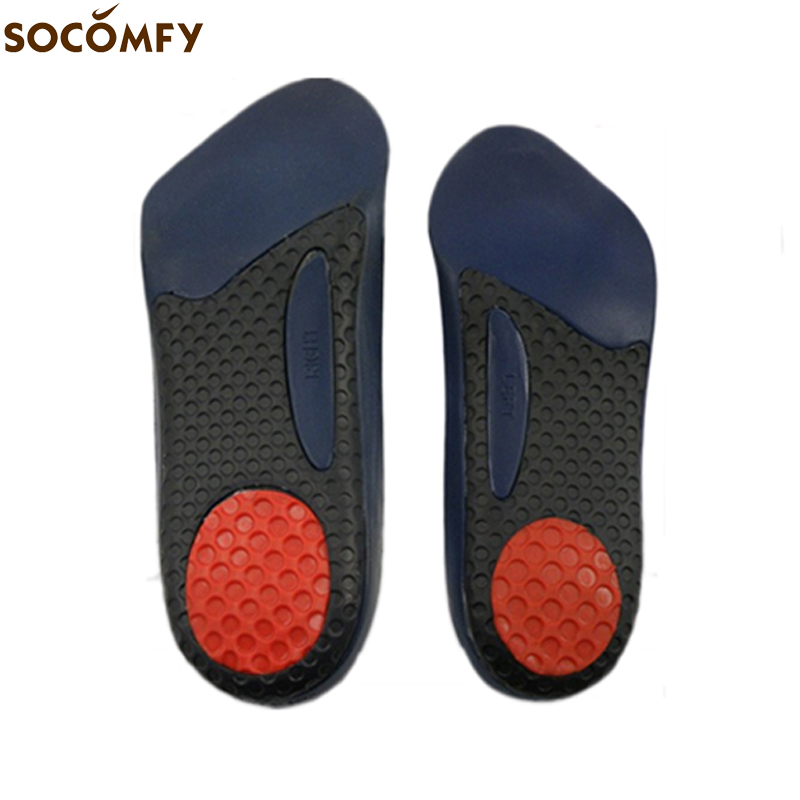 SOCOMFY New 3/4 Length Orthopedic Orthotics Arch Support Shoe Insoles Pad Cushion Inserts For Men/Women Pain Relief zhumeng arch support insoles orthopedic pads for shoes insole foot care orthotics shock women men shoes pad shoe inserts