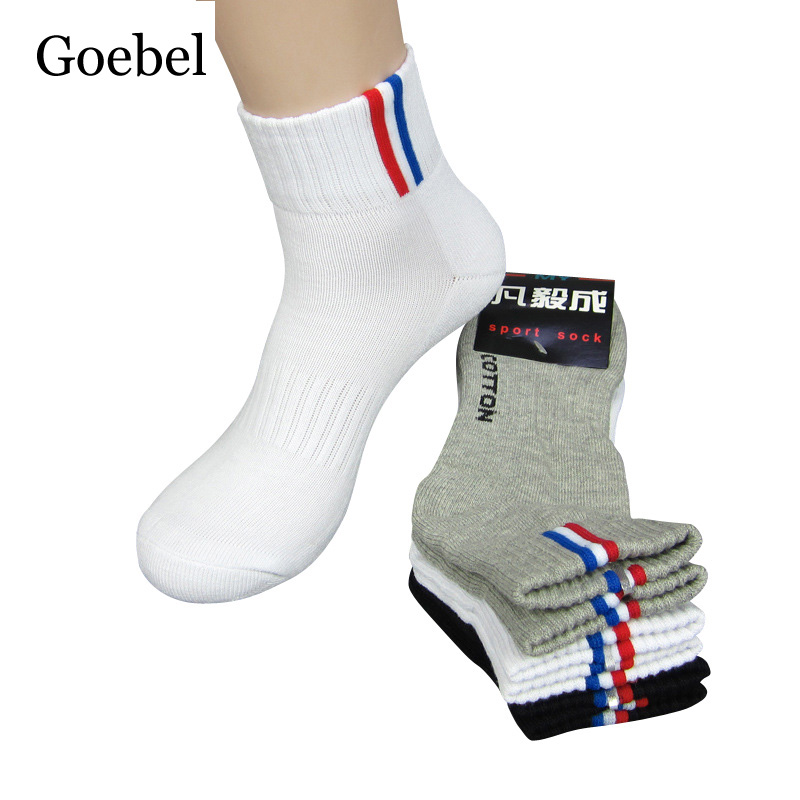 Goebel Sweat Men Socks Brand Cotton Fashion In Tube Mans Funny Socks Casual Stripe Male Dress Socks 6pairs/lot