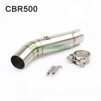 Motorcycle Exhaust Pipe CB500F CB500X CBR500 middle Connecting Pipe Motorbike Muffler Escape Link Pipe Adapter
