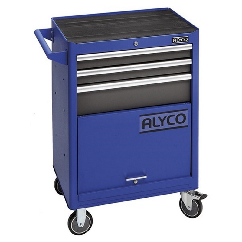 ALYCO 192700-Trolley Mobile De 3 Drawers And Wharehouse ALYPLUS Bottom 680X460x1000mm 60Kg