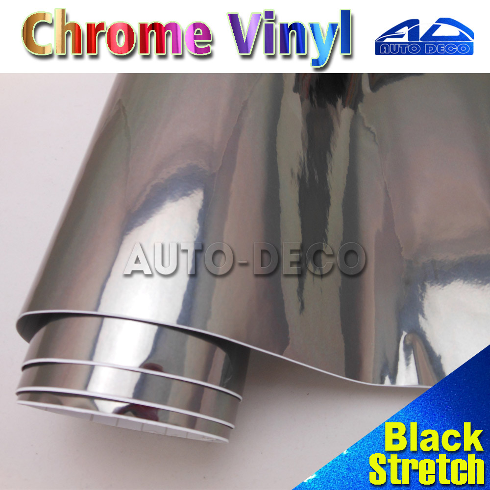 Hot-Sale Black Chrome Vinyl Wrap Film for Car Diy Styling Color Change Easy To Stretch FedEx Free Shipping Size:1.52*20m/roll professional 3 viewing filter for color film black